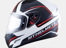 Шлем Интеграл MT MUGELLO JEROME gloss white/anthracite/fluo red