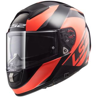 LS2 FF397 VECTOR FT2 WAVY, BLACK FLUO ORANGE