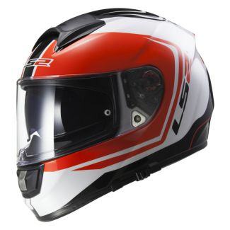 LS2 FF397 VECTOR FT2 WAKE, WHITE BLACK RED